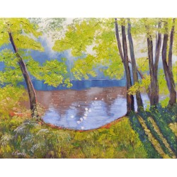 Sunny Landscape with the River