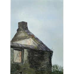 Old Cottage with Poppies