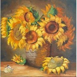 Sunflowers and Butterfly